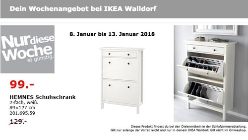 Ikea Hemnes Schuhschrank Fur 99 00 23