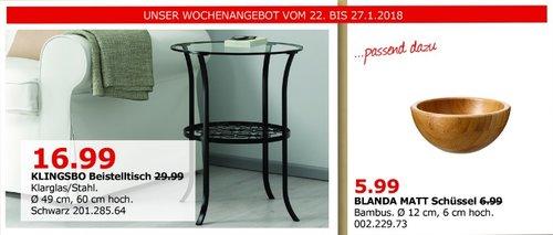 IKEA KLINGSBO Beistelltisch - jetzt 43% billiger