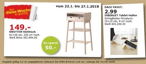 IKEA KNOTTEN Stehtisch - jetzt 25% billiger