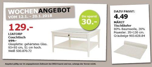 IKEA LIATORP Couchtisch - jetzt 19% billiger