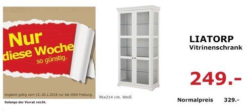 IKEA LIATORP Vitrinenschrank - jetzt 24% billiger