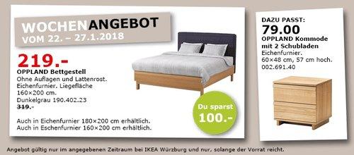 IKEA OPPLAND Bettgestell - jetzt 31% billiger