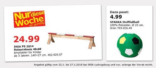 IKEA PS 2014 Balancebank - jetzt 50% billiger