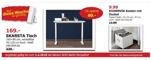 IKEA SKARSTA Tisch - jetzt 26% billiger