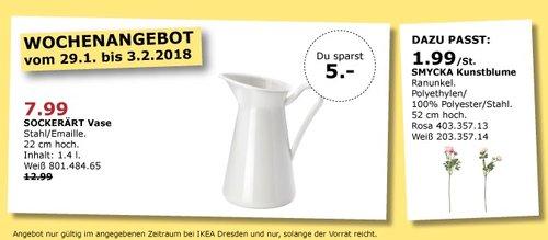 IKEA SOCKERÄRT Vase - jetzt 38% billiger