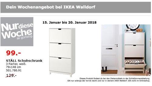 IKEA STÄLL Schuhschrank  - jetzt 23% billiger