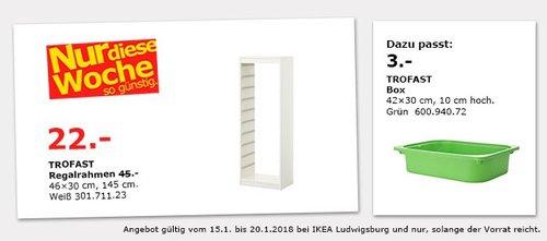 IKEA TROFAST Regalrahmen - jetzt 51% billiger