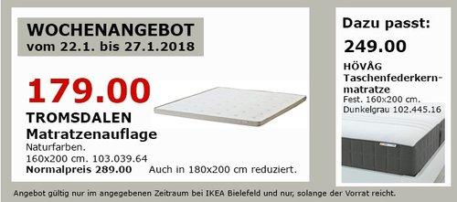IKEA TROMSDALEN Matratzenauflage - jetzt 38% billiger