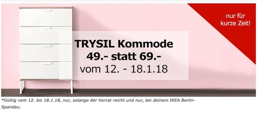 IKEATRYSIL Kommode - jetzt 29% billiger
