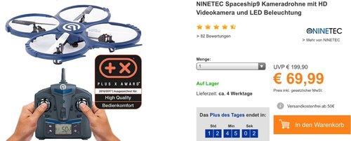 Ninetec Spaceship9 Drohne - jetzt 22% billiger