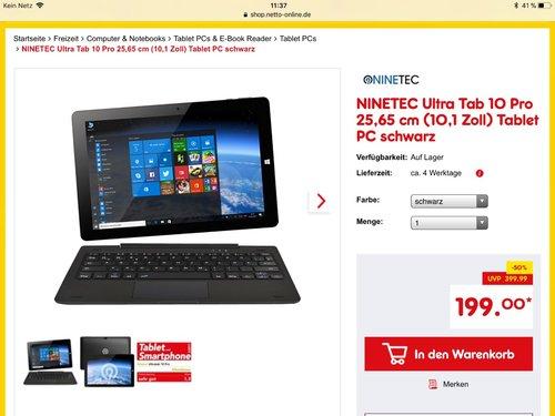 NINETEC Ultratab 10 Pro - jetzt 20% billiger