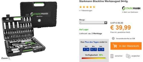 Starkmann Blackline Werkzeugset 94-tlg. - jetzt 10% billiger