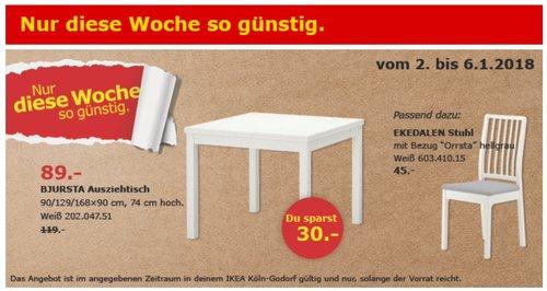 IKEA BJURSTA Ausziehtisch - jetzt 25% billiger