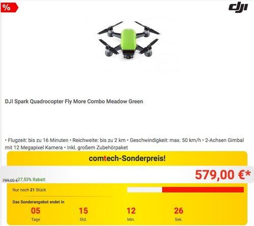 DJI Spark Fly More Combo  - jetzt 3% billiger