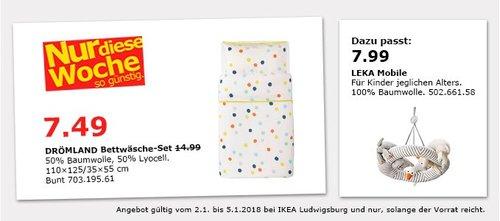 IKEA DRÖMLAND Bettwäsche-Set - jetzt 50% billiger