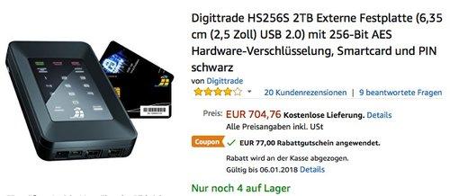 Digittrade HS256S 2TB Externe Festplatte - jetzt 13% billiger