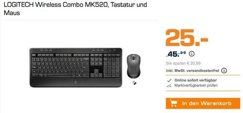 Logitech MK520 Wireless Combo Tastatur und Maus - jetzt 40% billiger