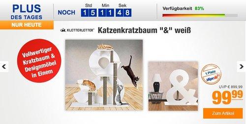 """KletterLetter Katzenkratzbaum """"&"""" weiß - jetzt 50% billiger"""