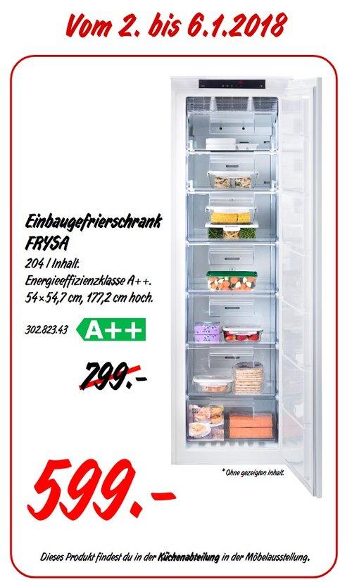 IKEA FRYSA Einbaugefrierschrank - jetzt 25% billiger