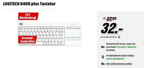 Logitech K400 Plus Wireless Touch Tastatur - jetzt 34% billiger