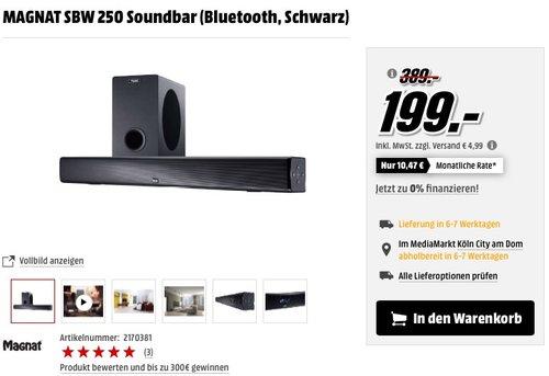Magnat SBW 250 Soundbar - jetzt 28% billiger