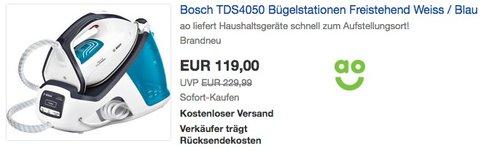 Bosch TDS4050 Bügelstation - jetzt 8% billiger