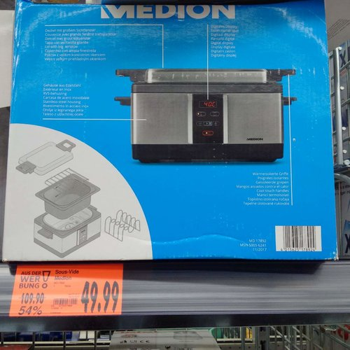 MEDION MD 17892 Sous-Vide Garer - jetzt 55% billiger