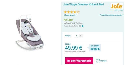 Joie Wippe Dreamer Khloe & Bert - jetzt 28% billiger