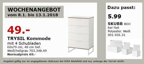 IKEA TRYSAL Kommode - jetzt 29% billiger