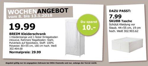 IKEA BREIM Kleiderschrank - jetzt 33% billiger