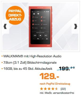 Sony NW-A35 High-Resolution Walkman - jetzt 25% billiger