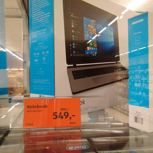 Medion Akoya E6436 15,6 Zoll Notebook - jetzt 8% billiger