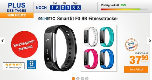 NINETEC Smartfit F3HR Fitnesstracker - jetzt 14% billiger