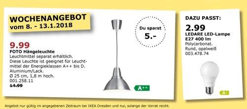 IKEA FOTO Hängelampe - jetzt 33% billiger