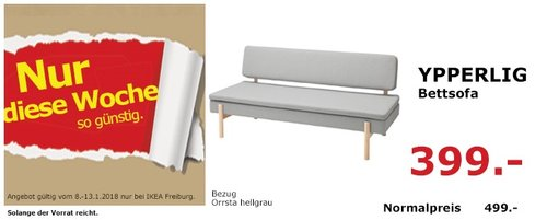 IKEA YPPERLIG Bettsofa - jetzt 20% billiger