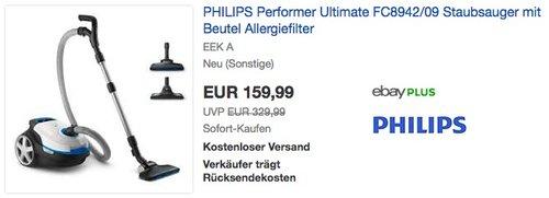PHILIPS Performer Ultimate FC8942/09 Staubsauger - jetzt 39% billiger