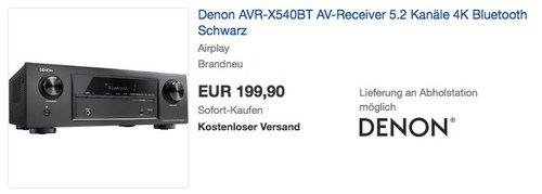 Denon AVR-X540BT 5.2 AV-Receiver - jetzt 20% billiger