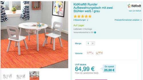 KidKraft Runder Tisch mit zwei Stühlen - jetzt 10% billiger