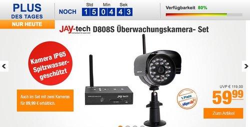 Jay-Tech D808S Überwachungskamera-Set - jetzt 37% billiger