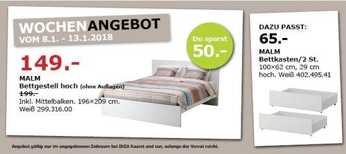 IKEA MALM Bettgestell  - jetzt 25% billiger