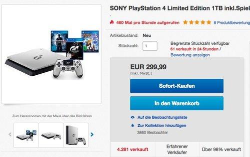 Sony Playstation 4 - GT Sport 1TB Special Limited Edition - jetzt 7% billiger