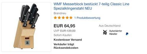 WMF Messerblock 7-teilig Classic Line - jetzt 13% billiger