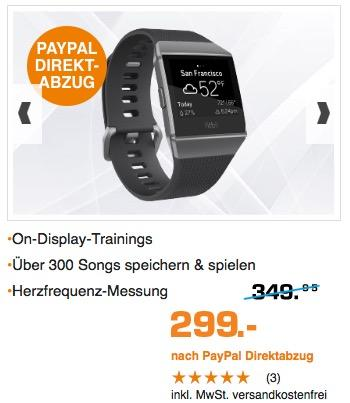 Fitbit Ionic Health & Fitness Smartwatch  - jetzt 5% billiger