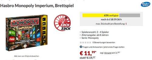 Hasbro Monopoly Imperium - jetzt 38% billiger