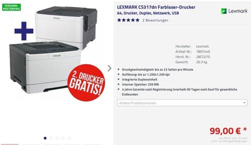 LEXMARK CS317dn Farblaser-Drucker  - jetzt 50% billiger