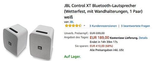 JBL Control XT Bluetooth-Lautsprecher  - jetzt 21% billiger