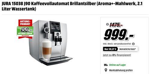 JURA 15038 J90 Kaffeevollautomat  - jetzt 16% billiger