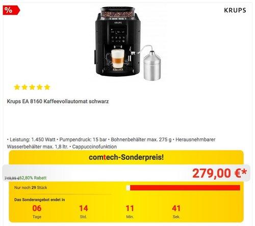 Krups EA 8160 Kaffeevollautomat - jetzt 16% billiger