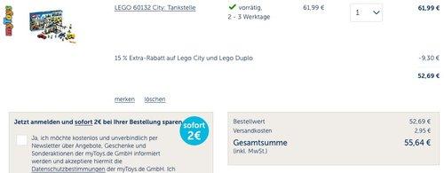 LEGO 60132 City: Tankstelle - jetzt 14% billiger