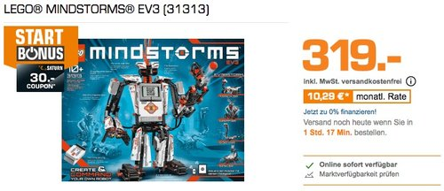 LEGO® MINDSTORMS® EV3 (31313) Roboter - jetzt 3% billiger
